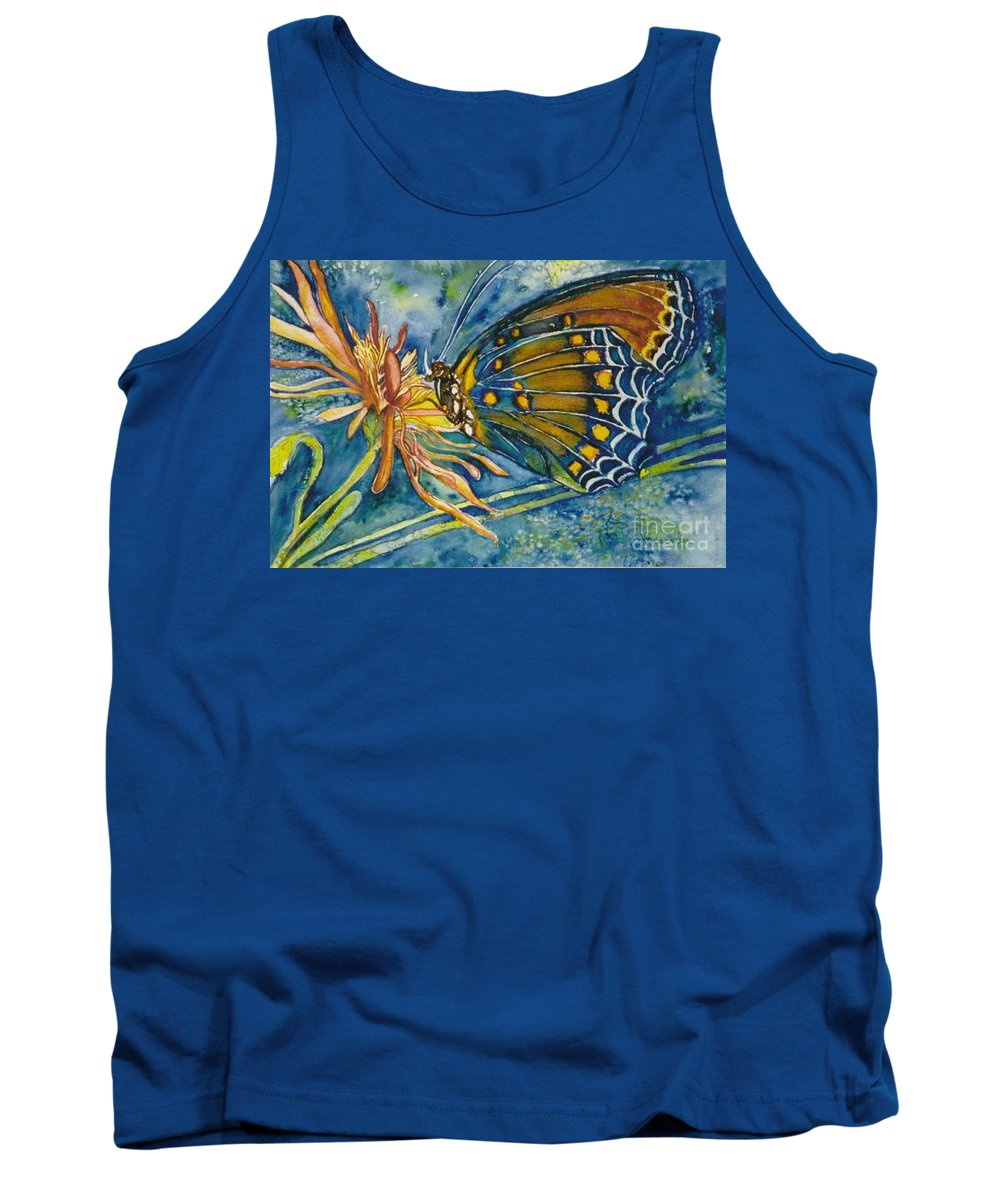 Butterflies Tank Top featuring the painting Butterfly In Ca by Norma Boeckler
