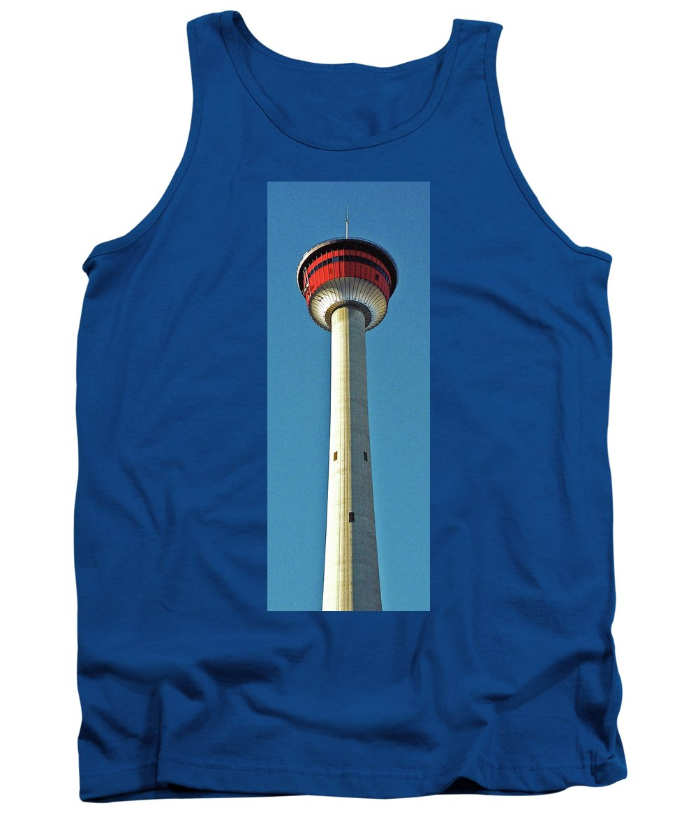 North America Tank Top featuring the photograph Calgary Tower by Juergen Weiss