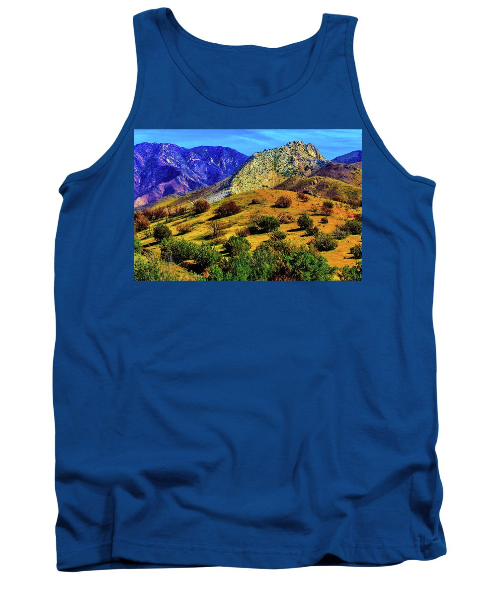 Poppy Tank Top featuring the photograph California Hills by Garry Gay