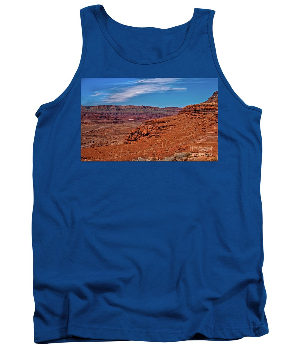Sandstone Tank Top featuring the photograph Canyon Rim by Robert Bales