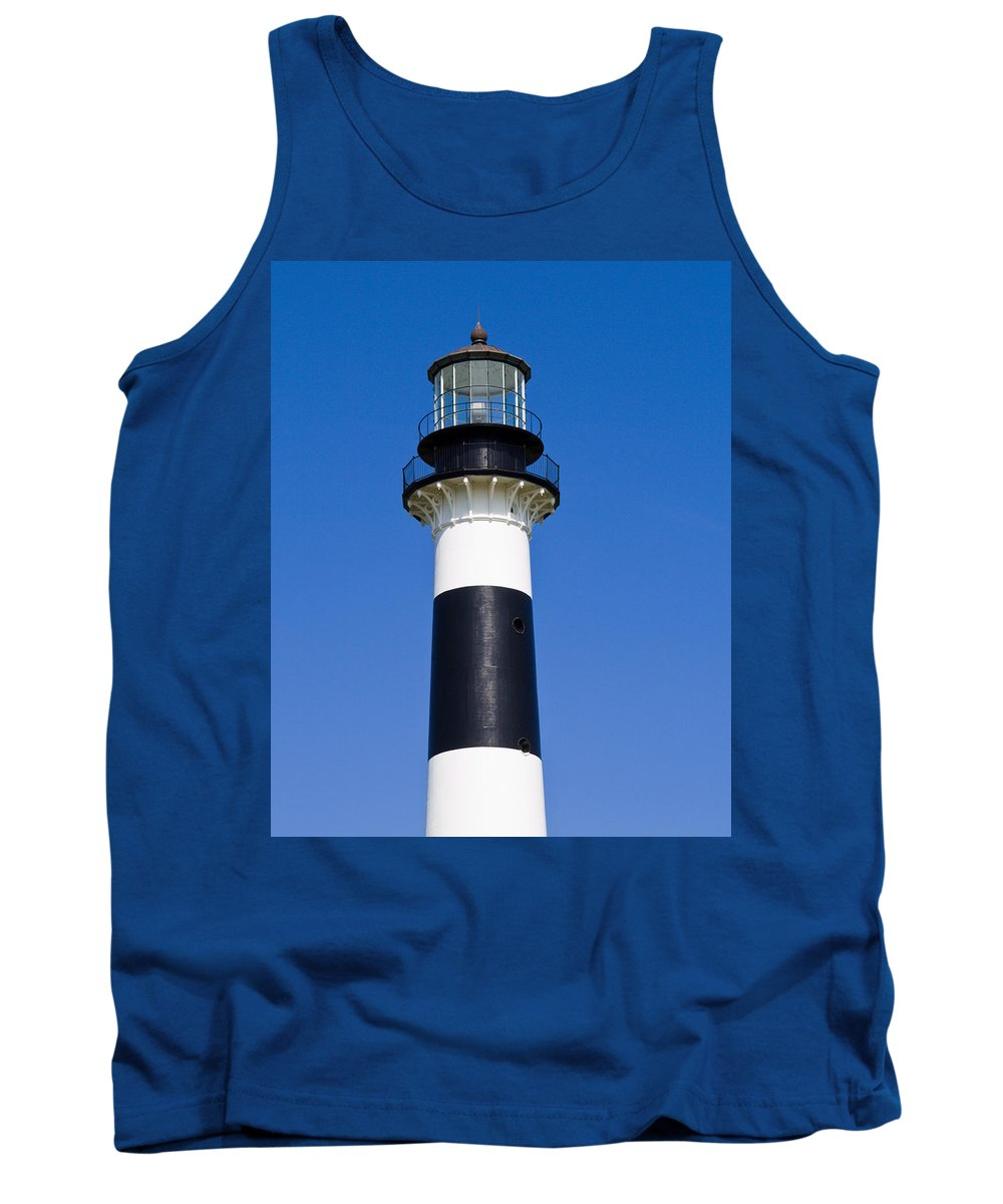 Cape; Canaveral; Light; Lighthouse; Florida; Keeper; Navigation; Usa; Atlantic; Kennedy; Space; Beac Tank Top featuring the photograph Cape Canaveral Lighthouse On The East Coast Of Florida by Allan Hughes