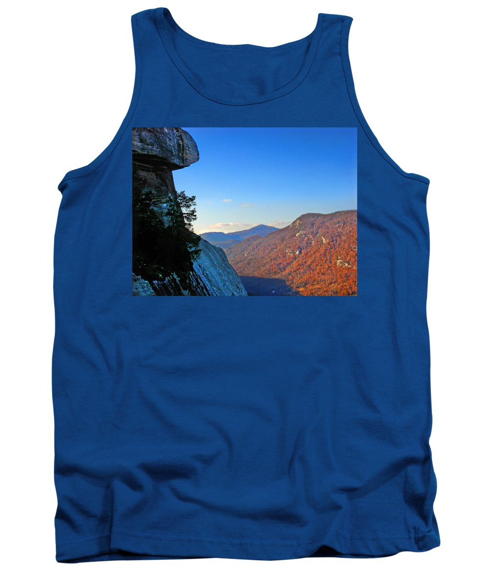 Landscape Tank Top featuring the photograph Chimney Rock 2 by Steve Karol