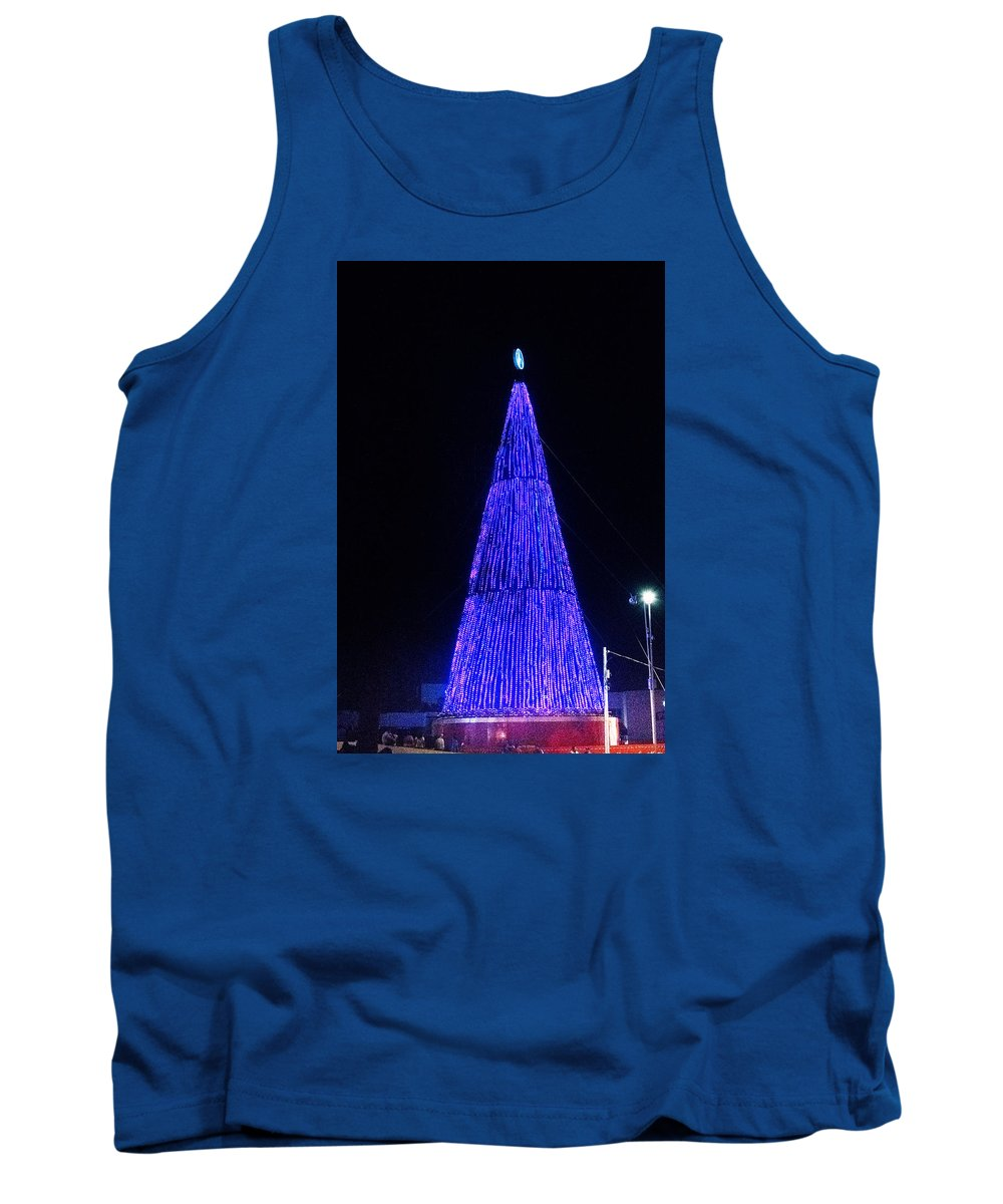 Christmas Tree Tank Top featuring the photograph Christmas Tree San Salvador 2 by Totto Ponce
