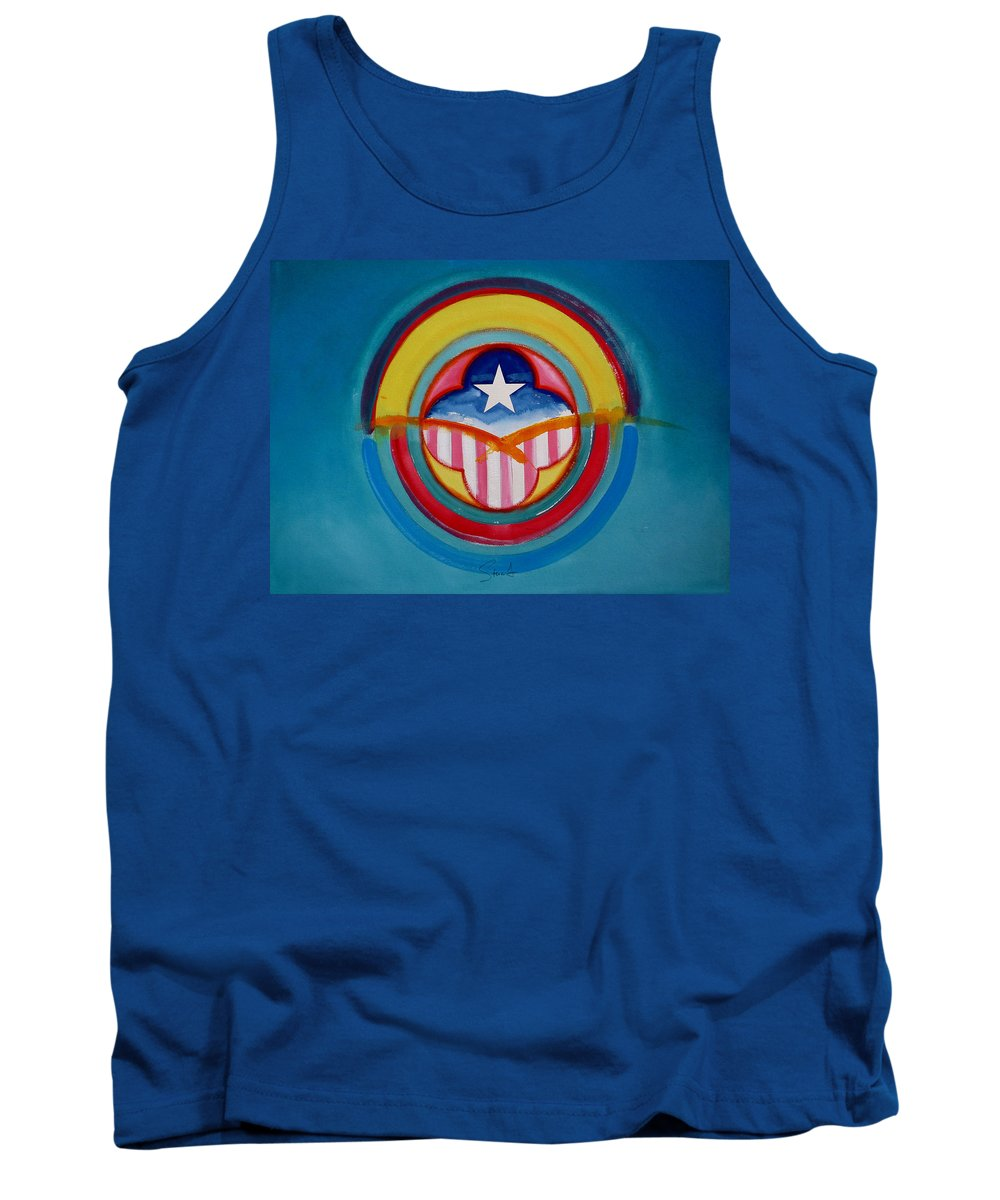 Button Tank Top featuring the painting CIA by Charles Stuart