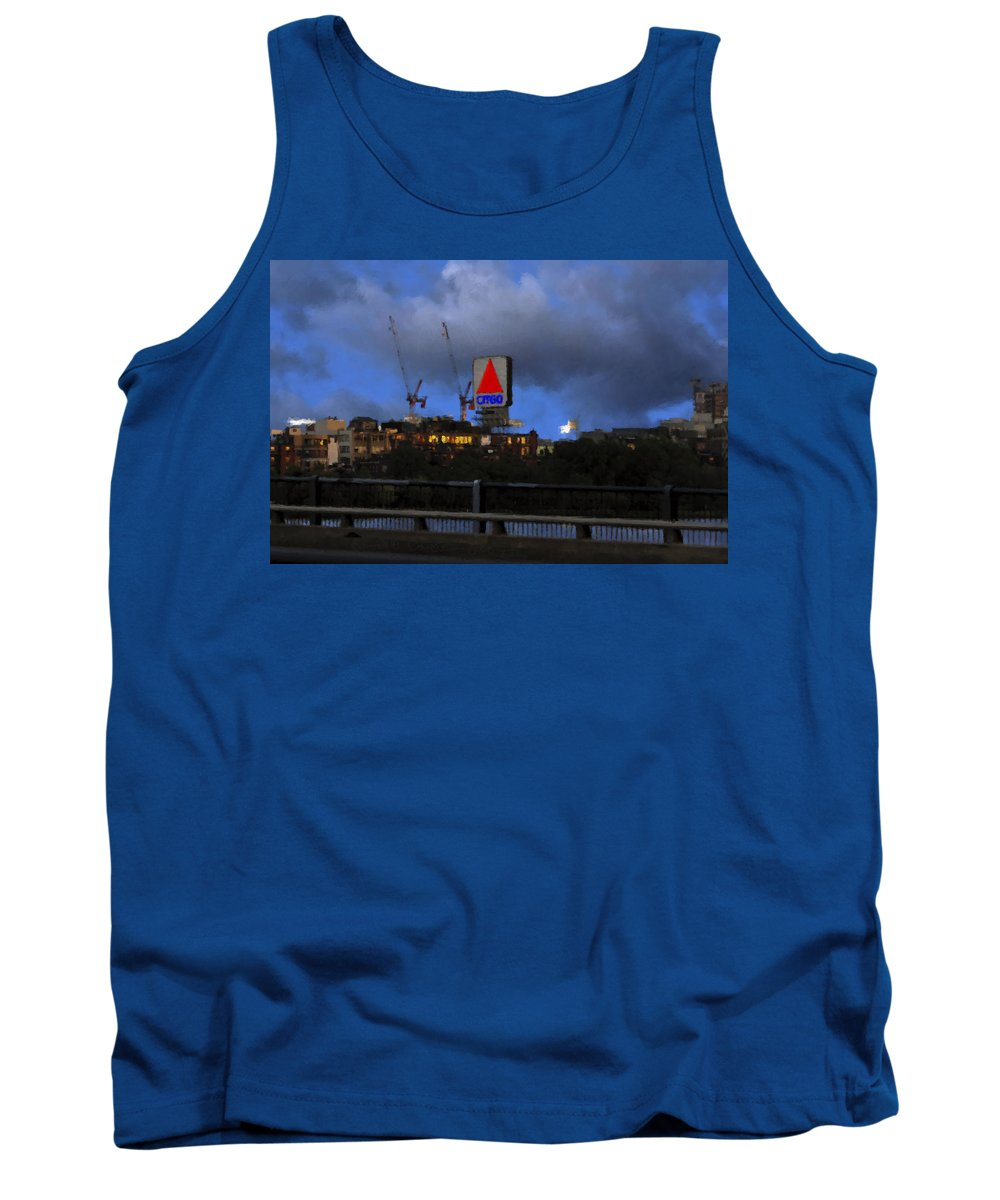 Citgo Sign Tank Top featuring the digital art Citgo Sign by Edward Cardini