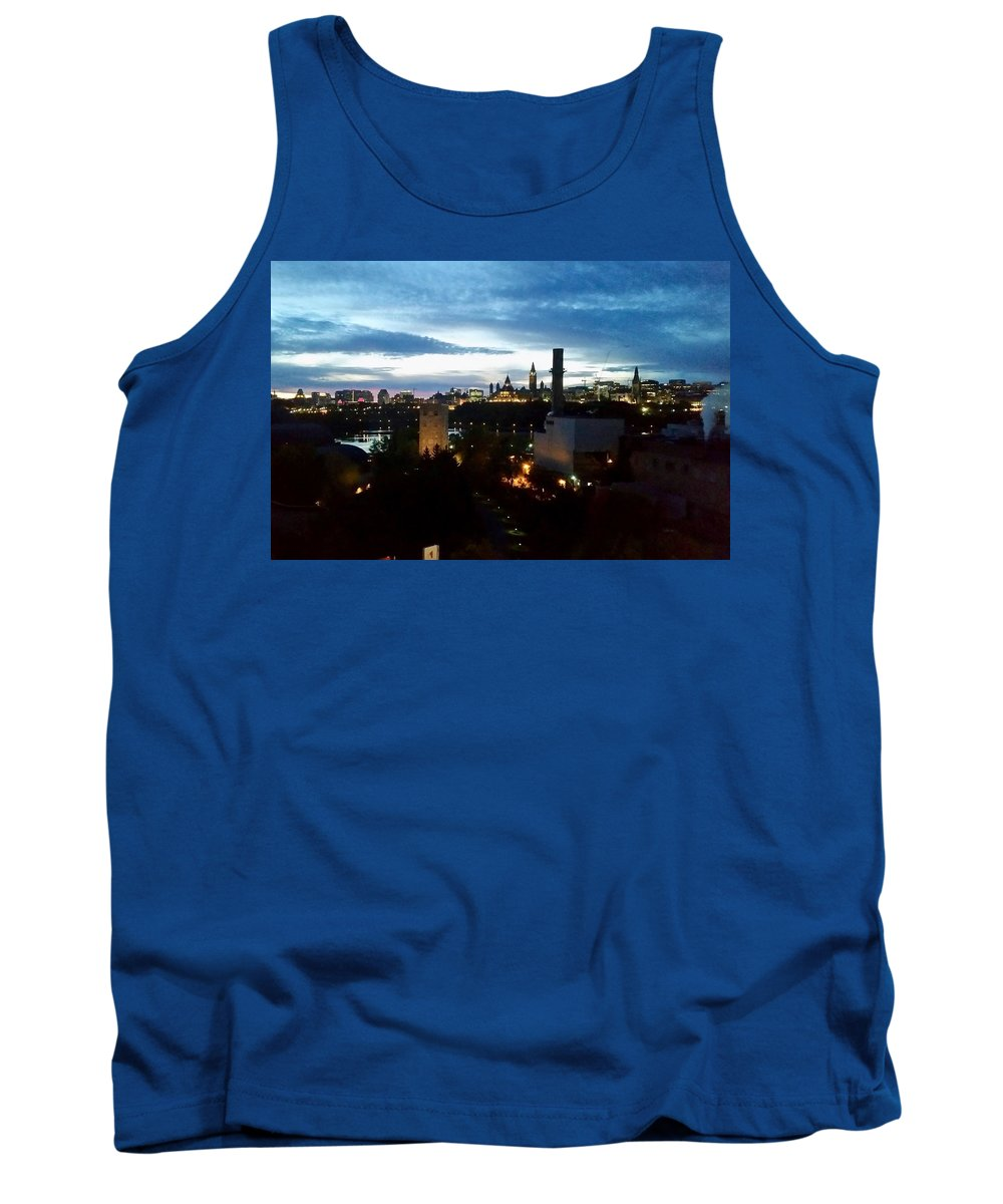 Nights Tank Top featuring the photograph City Lights by Aurora Bautista