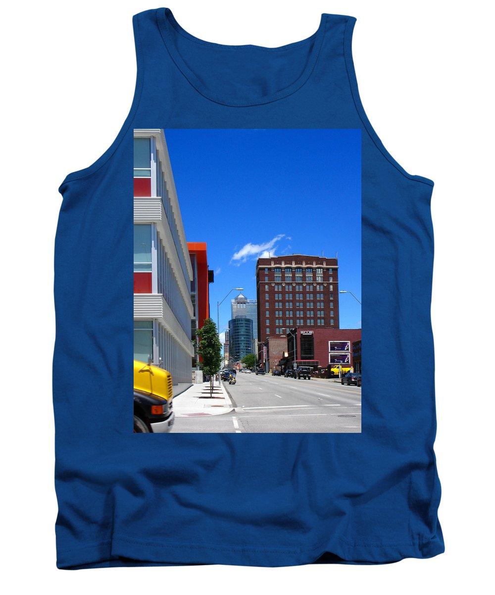 Kansas City Tank Top featuring the photograph City Street by Steve Karol