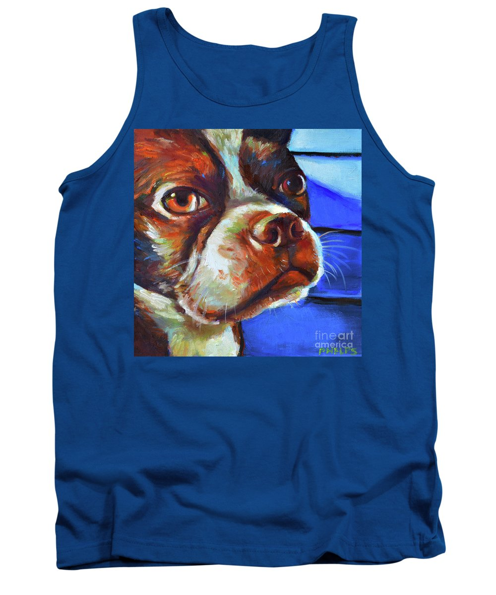 Dogs Tank Top featuring the painting Classy Hank by Robert Phelps