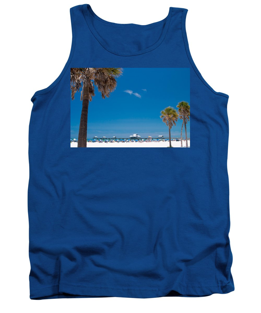 3scape Tank Top featuring the photograph Clearwater Beach by Adam Romanowicz