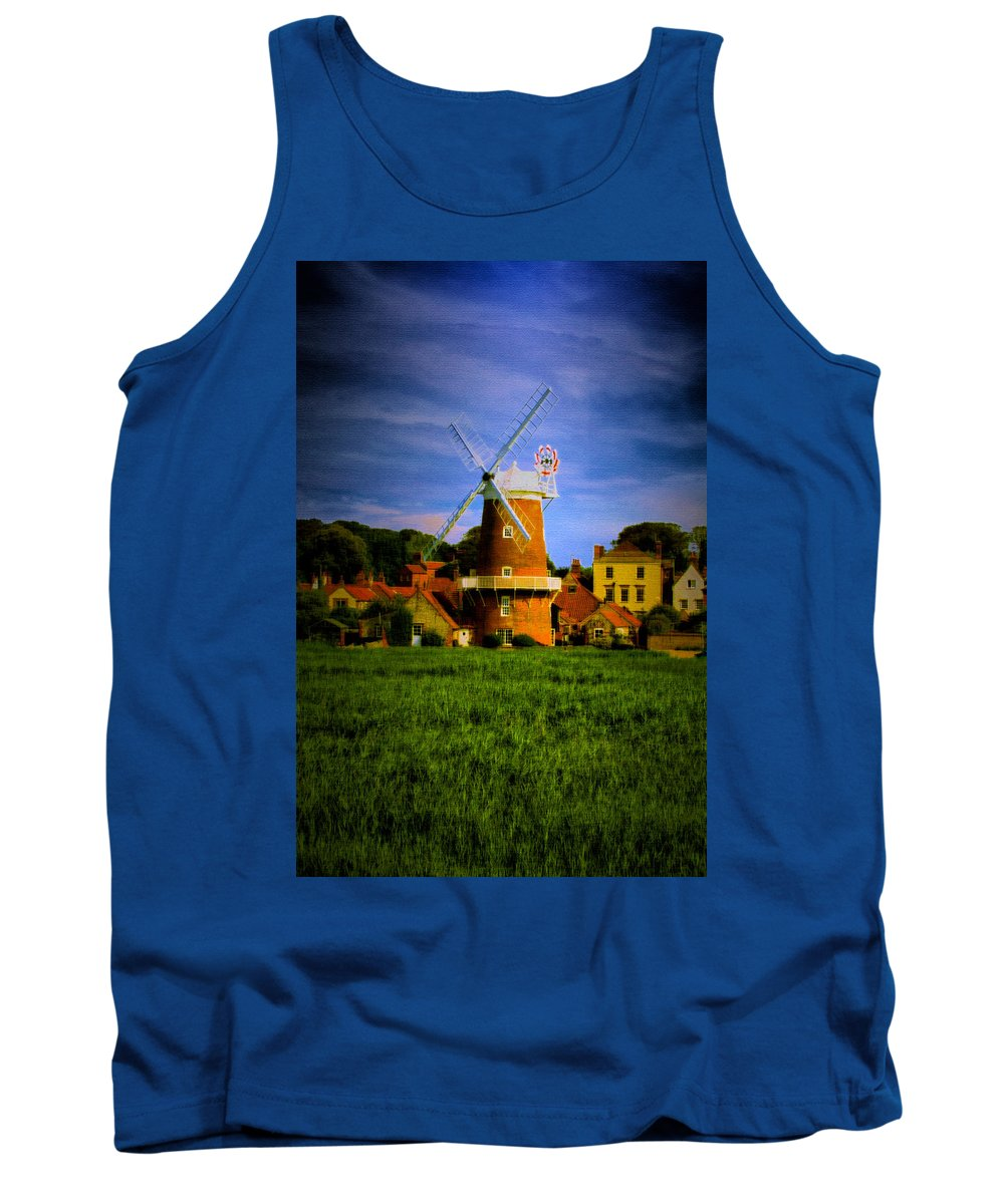 Landscapes Tank Top featuring the photograph Cley Mill Norfolk by Mark Egerton