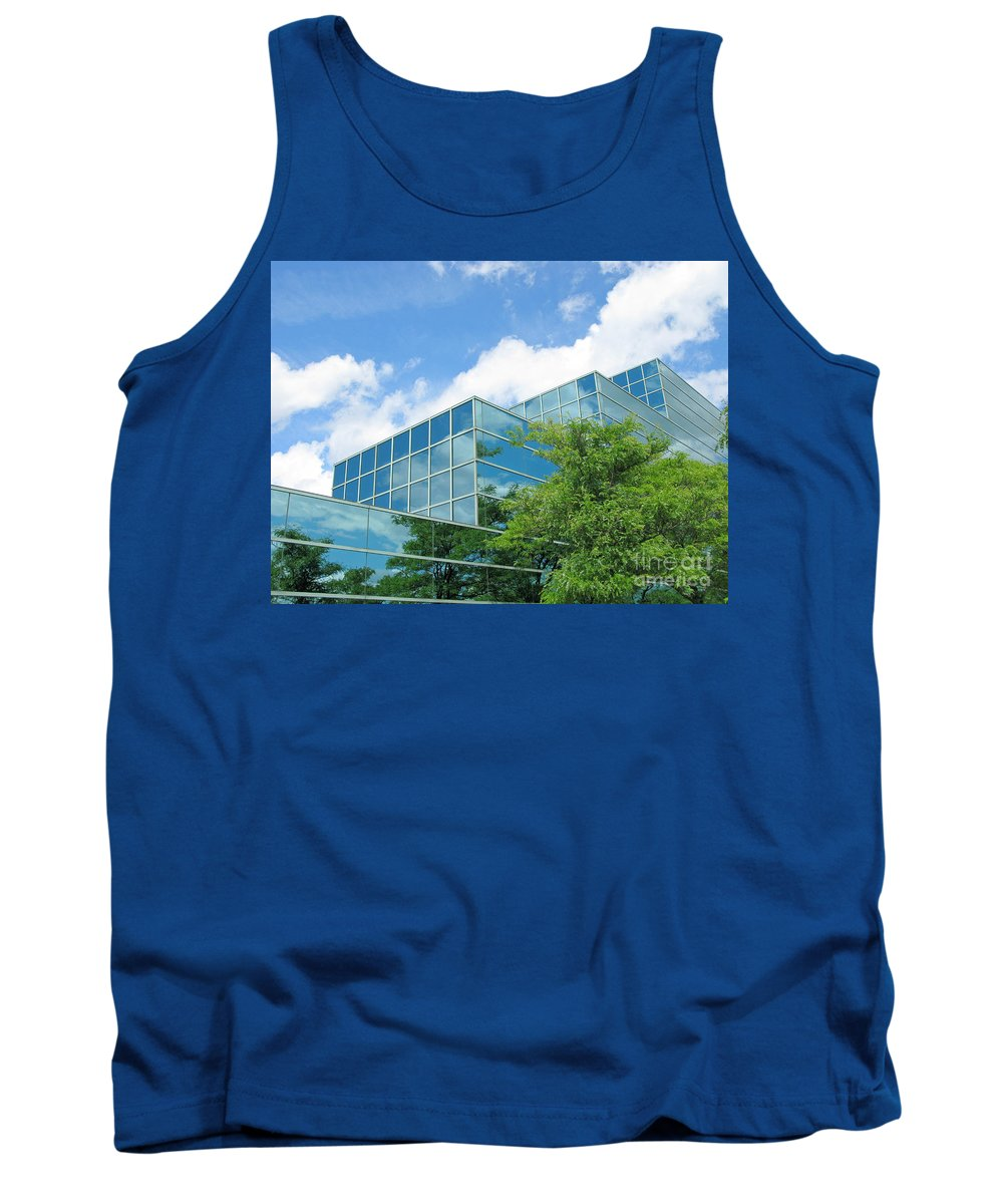 Architecture Tank Top featuring the photograph Climbing Skyward by Ann Horn