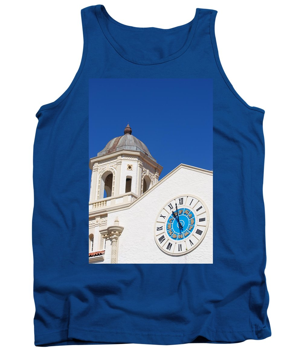 Clock Tank Top featuring the photograph Clock And Tower by Rob Hans