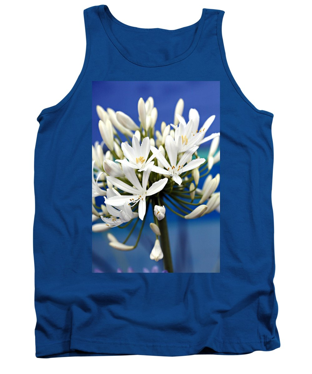 Closeup Tank Top featuring the photograph Closeup White Californian Flower by Marilyn Hunt