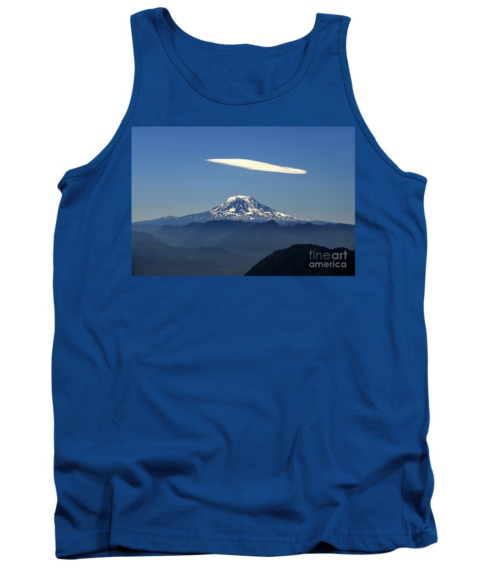 Mount Adams Tank Top featuring the photograph Cloud Over Adams by David Lee Thompson
