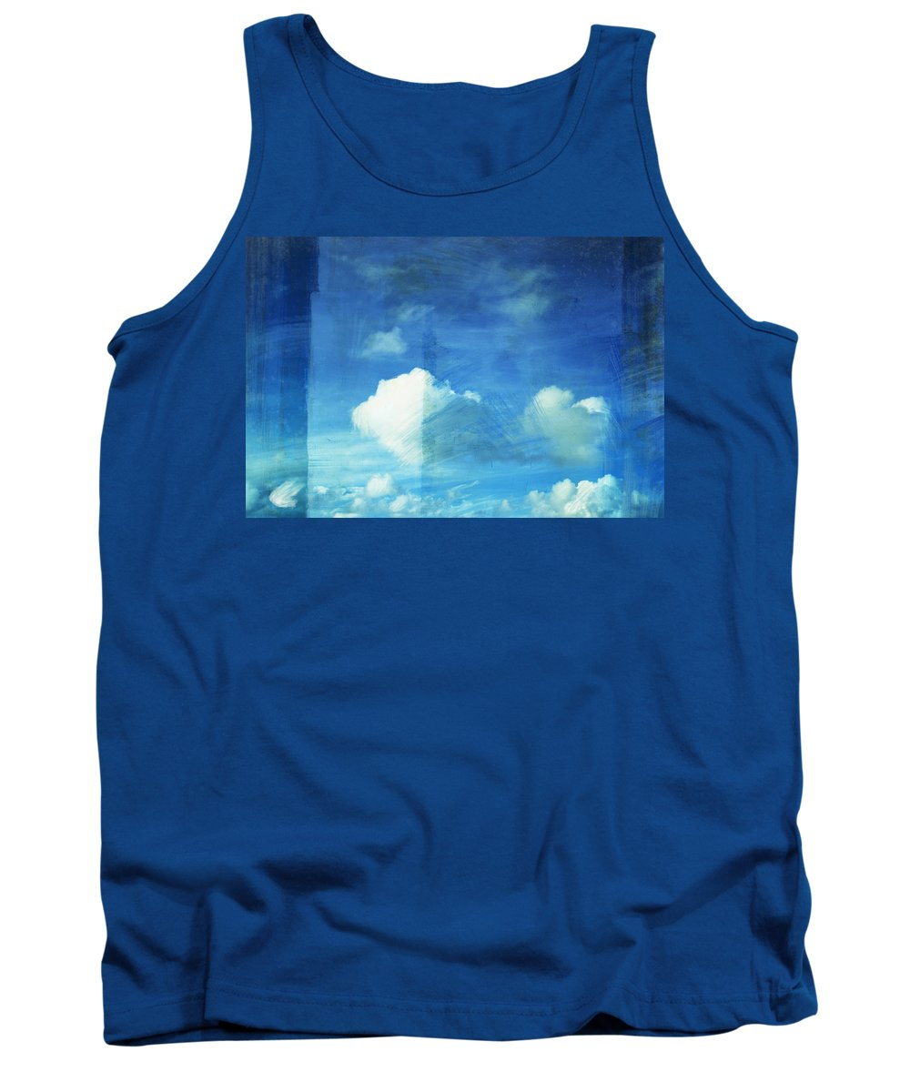 Abstract Tank Top featuring the painting Cloud Painting by Setsiri Silapasuwanchai