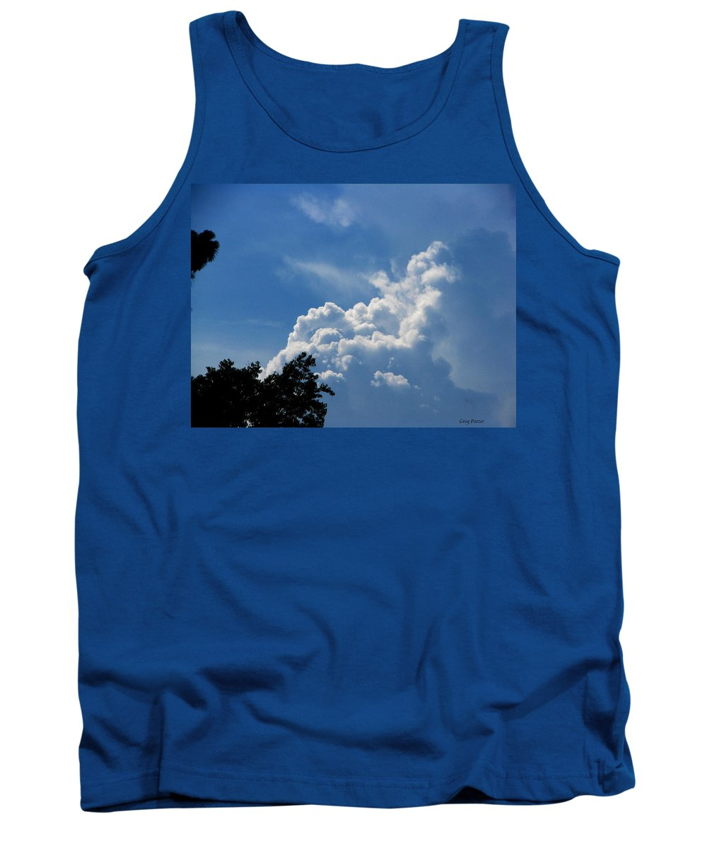 Patzer Tank Top featuring the photograph Clouds Of Art by Greg Patzer