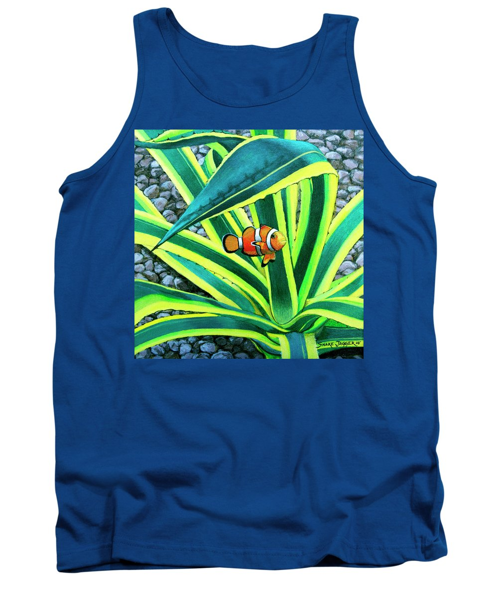 Fish Tank Top featuring the painting Clownfish by Snake Jagger