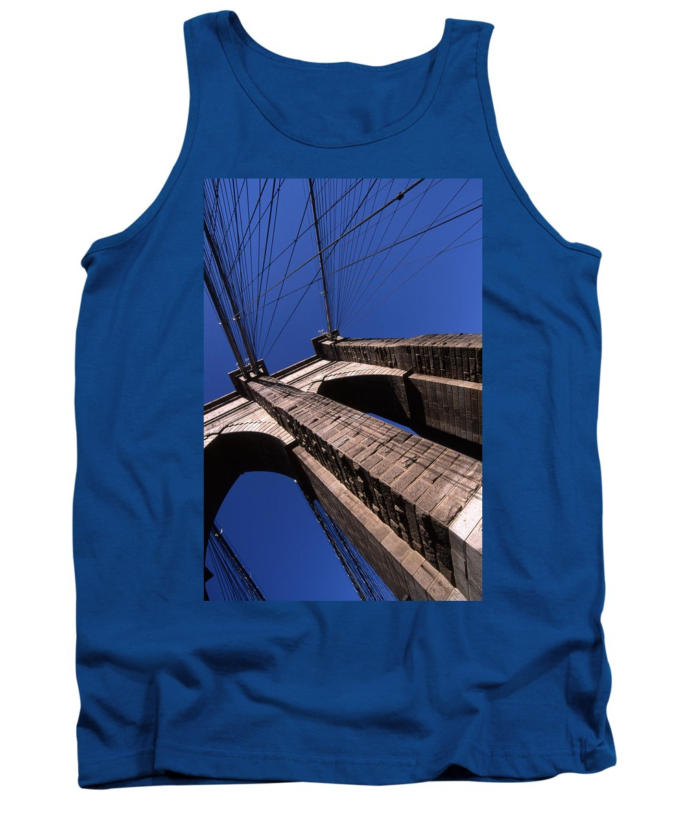 Landscape Brooklyn Bridge New York City Tank Top featuring the photograph Cnrg0408 by Henry Butz