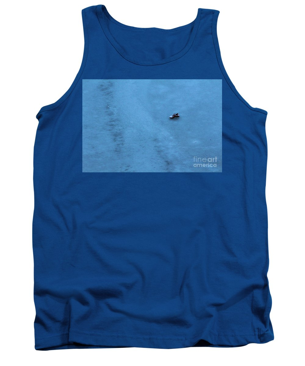 Cold Shoe Tank Top featuring the photograph Cold Shoe by Evil Shadows