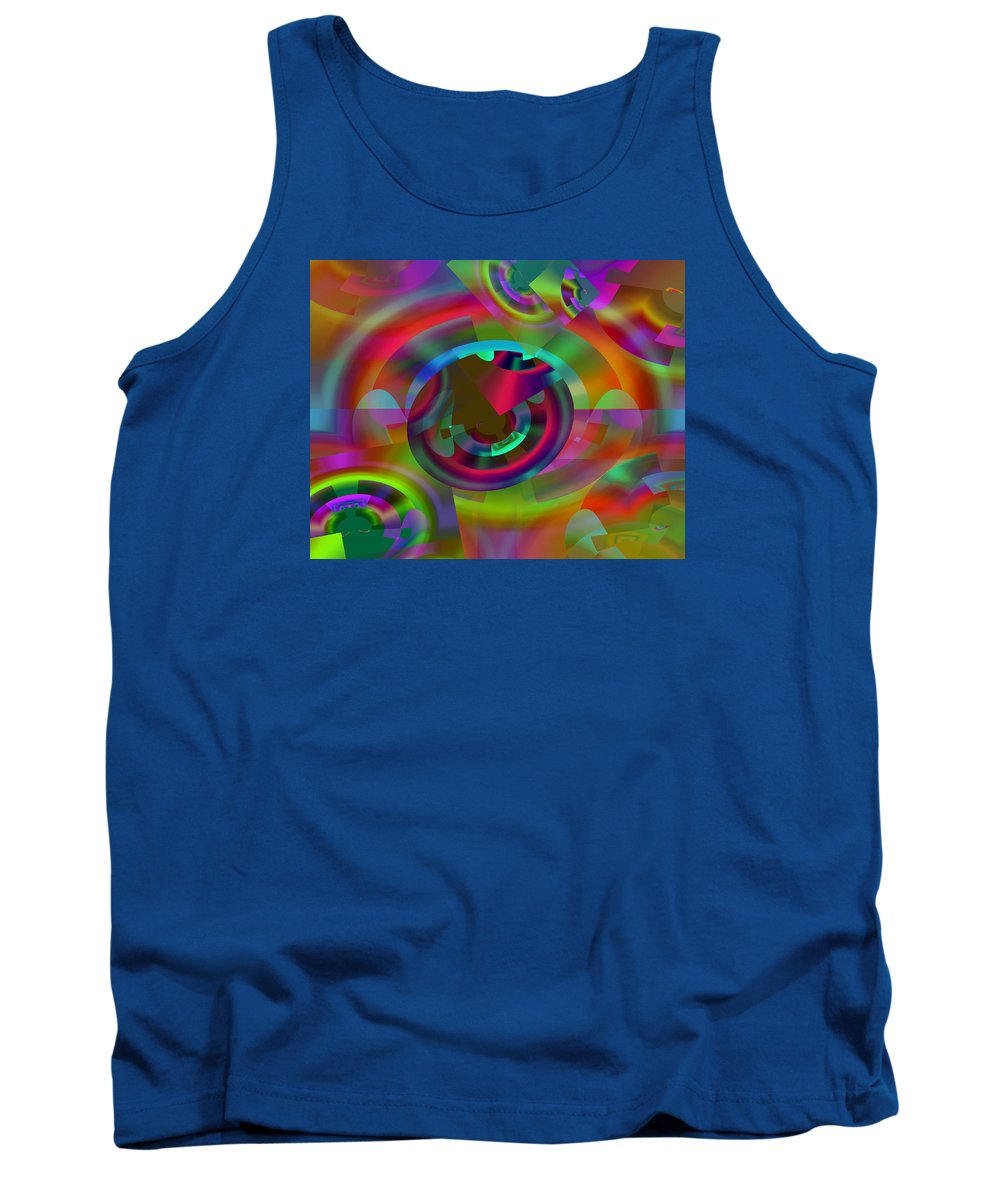Color Tank Top featuring the digital art Color Dome by Lynda Lehmann