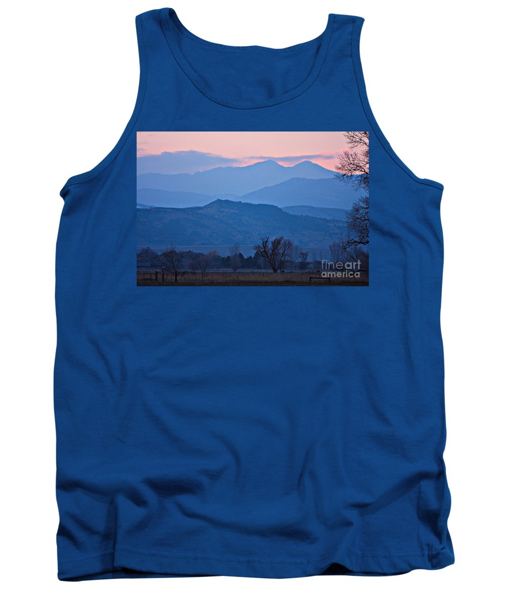 Boulder Tank Top featuring the photograph Colorado Country - Boulder County by James BO Insogna
