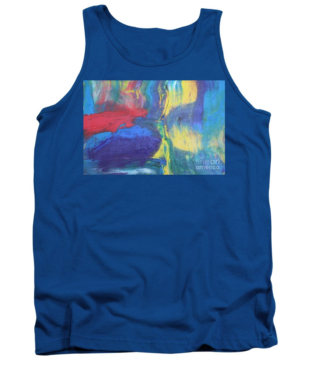 Abstract Tank Top featuring the painting Colors by Joseph Munroe