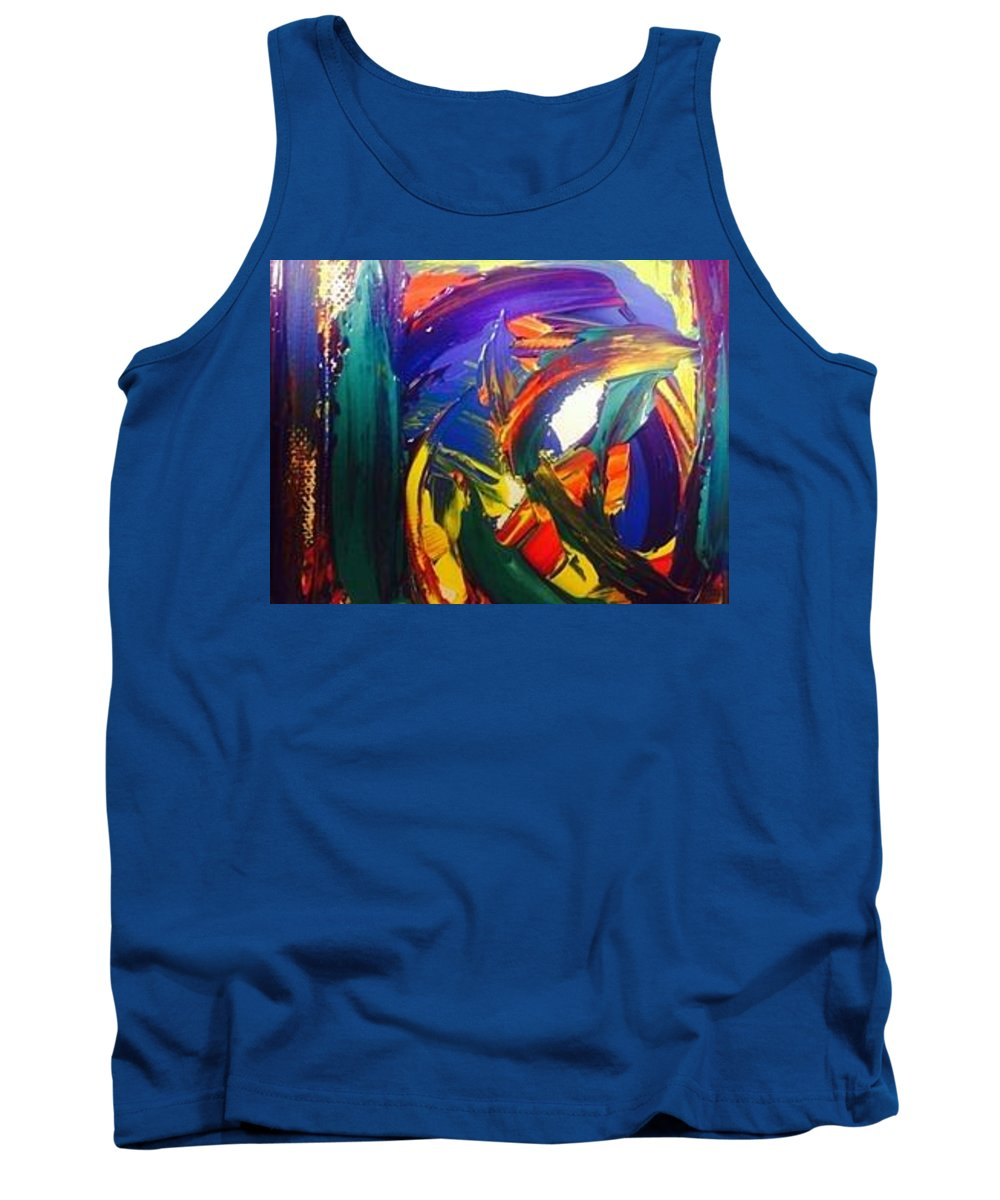 Abstract Tank Top featuring the painting Colors Of Our World by Marilyn Ingrid St-Pierre