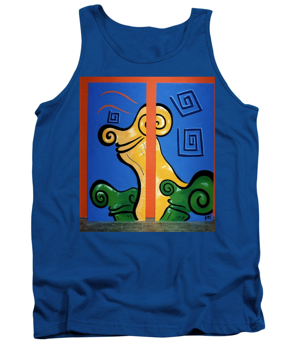 Tank Top featuring the painting Columns by Catt Kyriacou