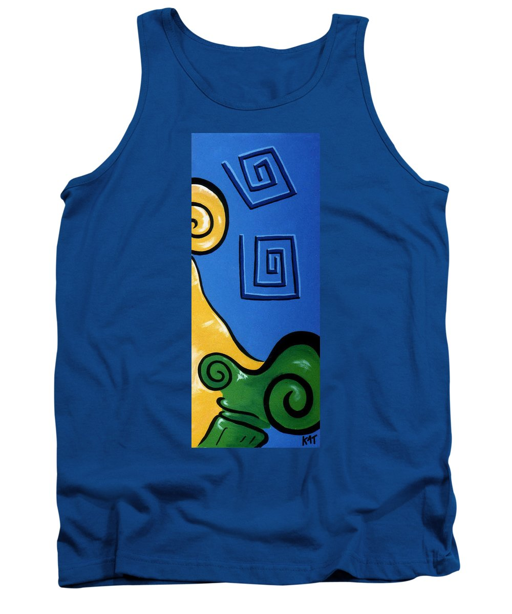 Tank Top featuring the painting Columns Right Side by Catt Kyriacou