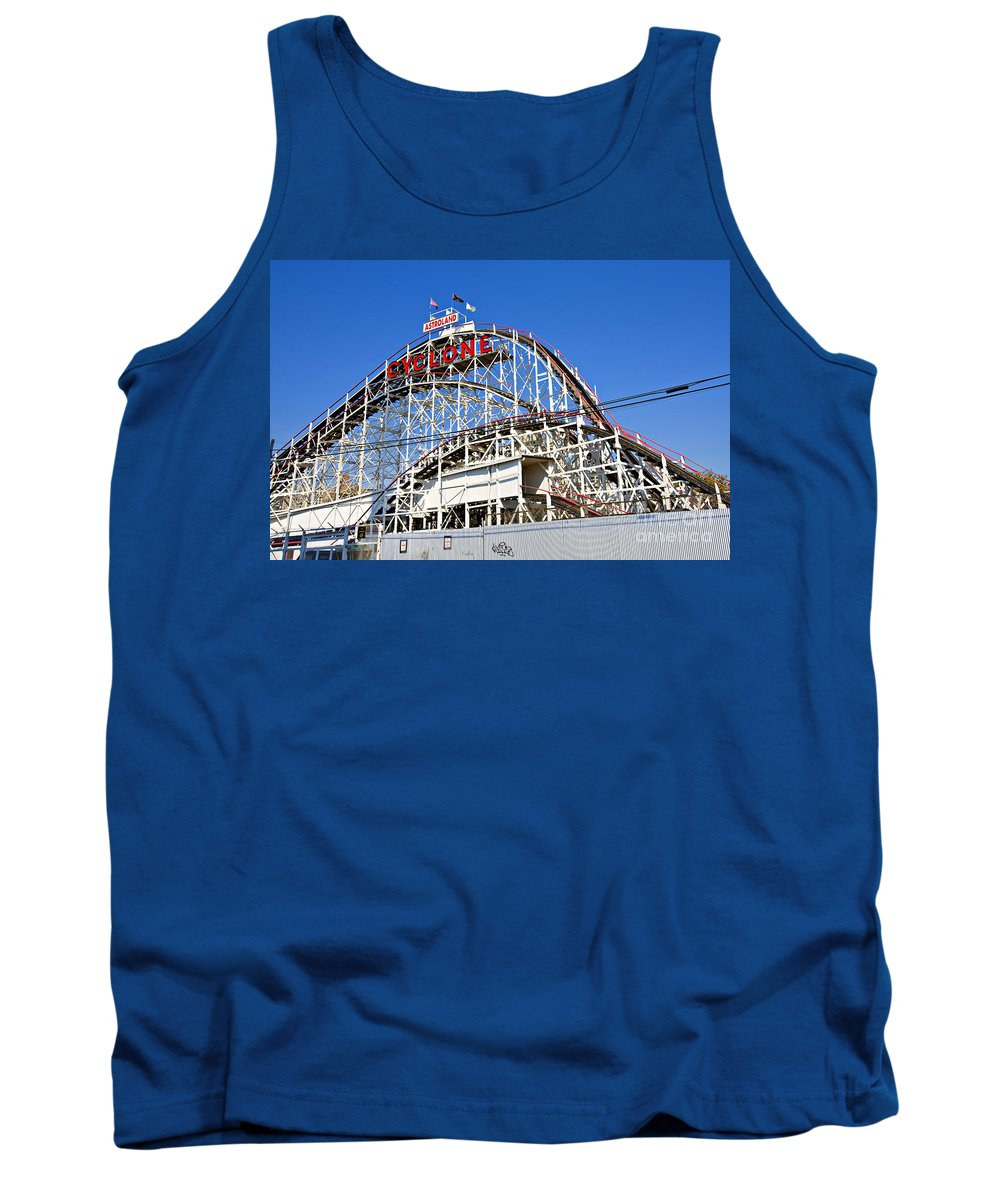 Coney Island Tank Top featuring the photograph Coney Island Memories 2 by Madeline Ellis
