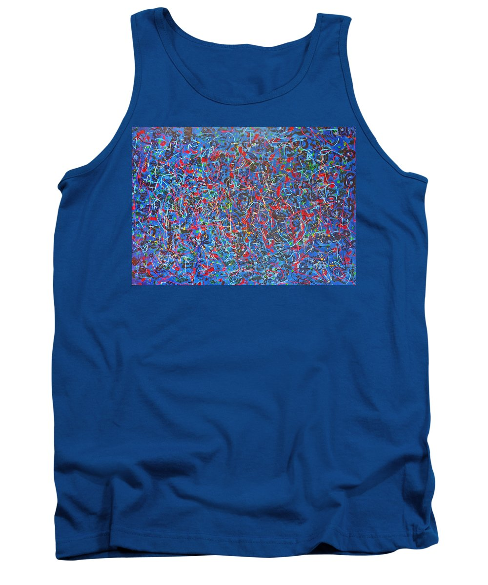 Abstract Tank Top featuring the painting Confetti by Ericka Herazo