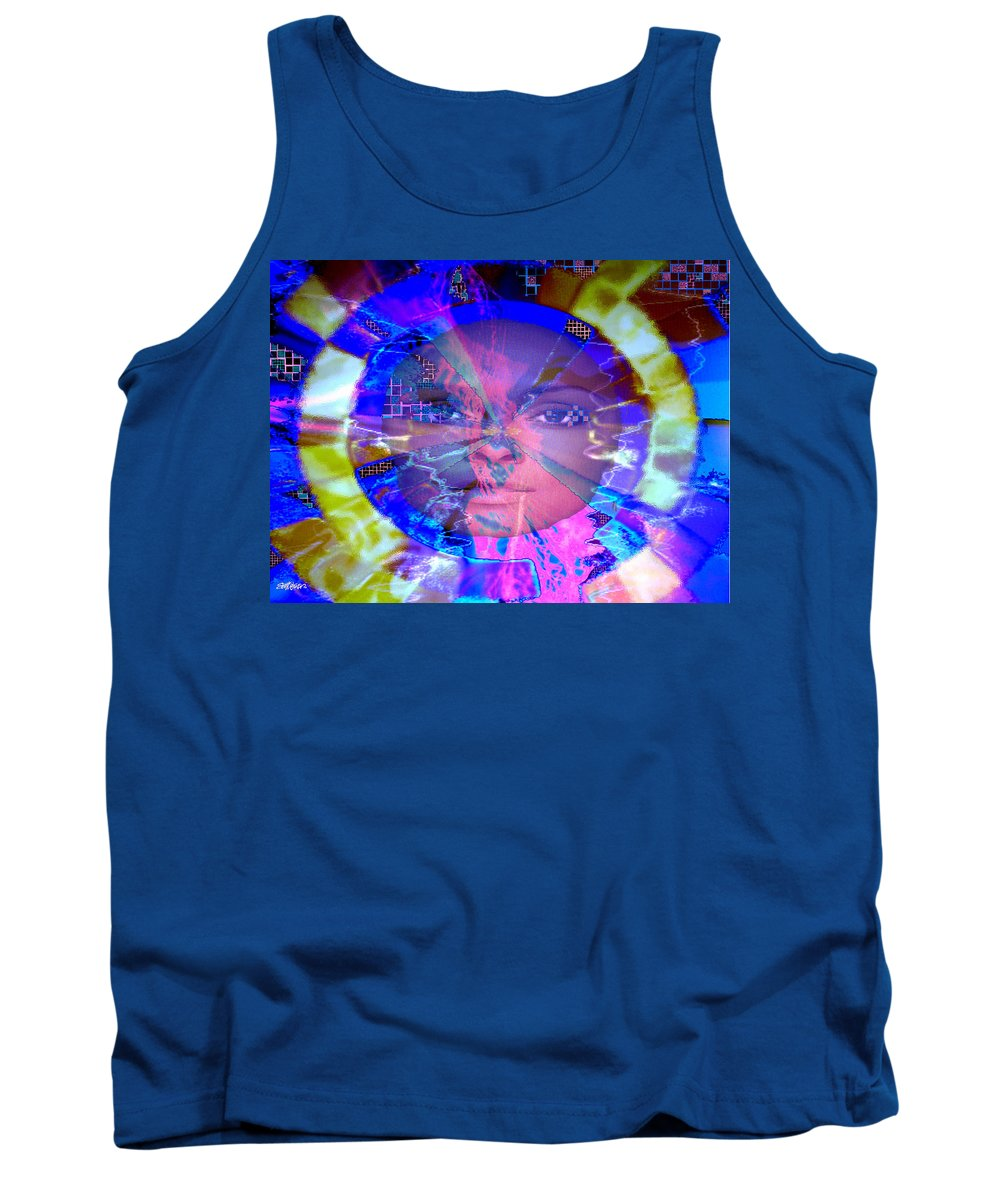 Congo Tank Top featuring the photograph Congo Queen Mandala by Seth Weaver