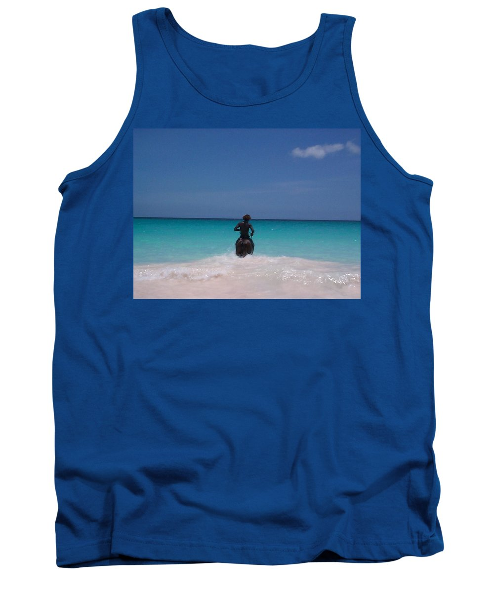 Charity Tank Top featuring the photograph Cool Off Man by Mary-Lee Sanders