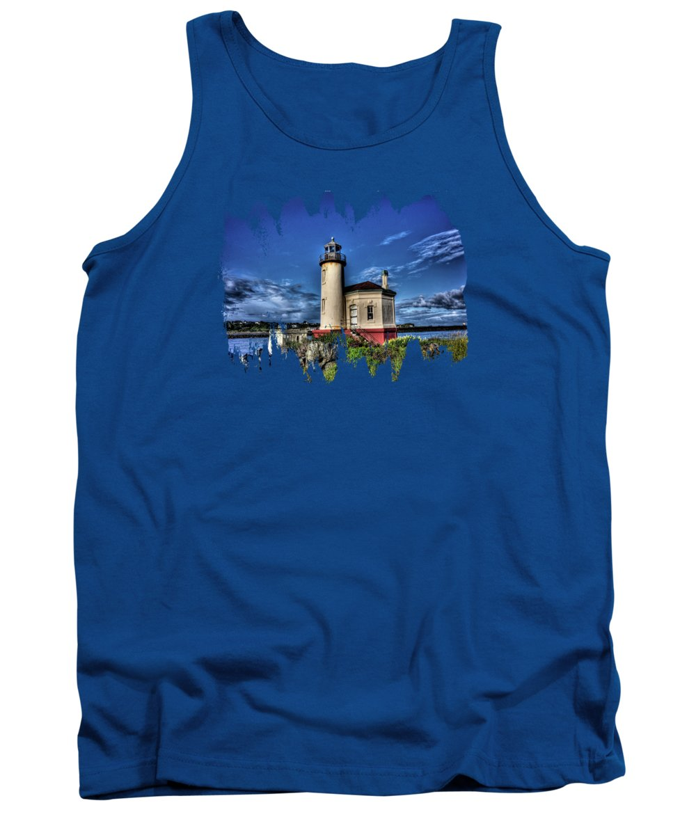 Coquille River Lighthouse Tank Top featuring the photograph Coquille River Lighthouse by Thom Zehrfeld