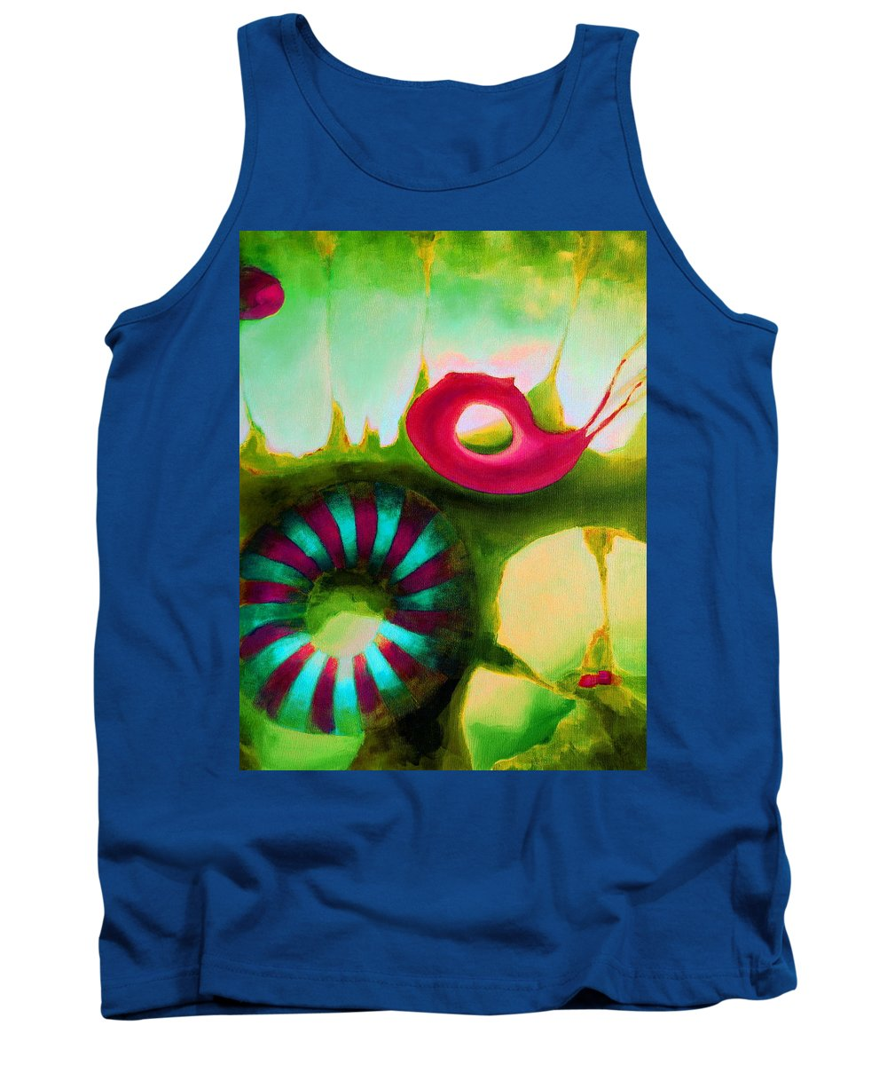 Armenian Tank Top featuring the painting Coral Cavern 1.1 by Giro Tavitian