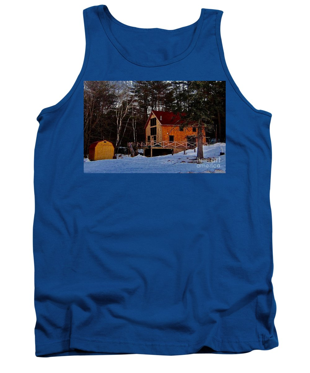Rustic House Tank Top featuring the photograph Country Living, Two by Elizabeth Tillar