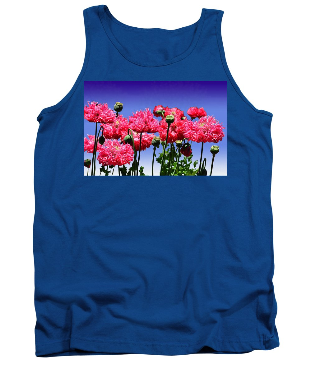 Dancing Tank Top featuring the photograph Dancing Poppies by Terry Anderson