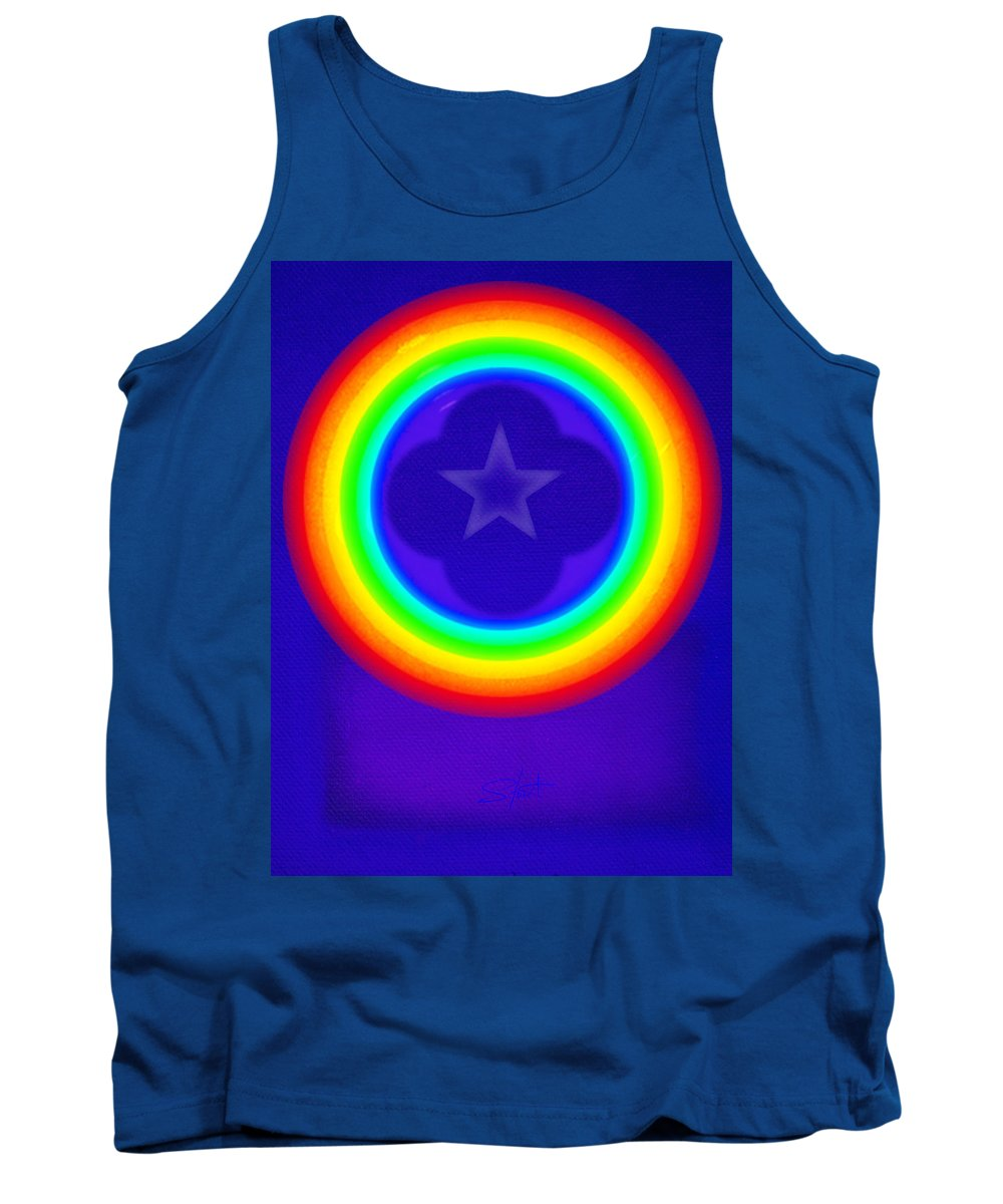 Abstract Tank Top featuring the painting Deep Blue See by Charles Stuart