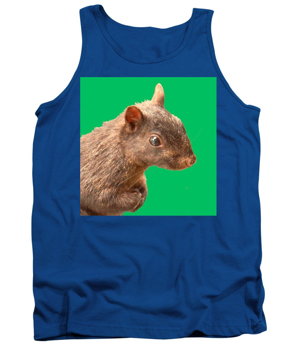 Squirrel Tank Top featuring the photograph Definately Bright Eyed by Ian MacDonald