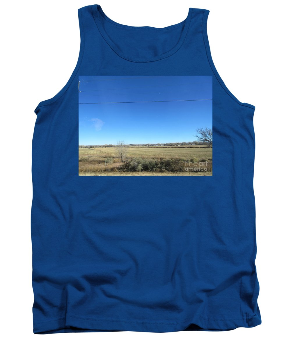Desert Tank Top featuring the photograph Desert Grain Field by Frederick Holiday