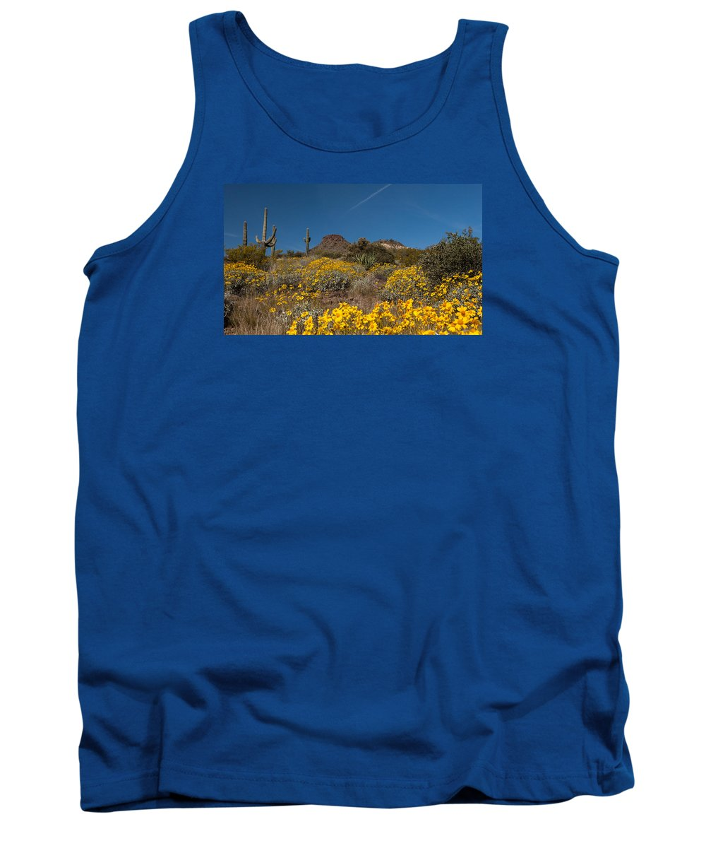 Browns Ranch Tank Top featuring the photograph Discovered Gold At Brown's Mountain by Dennis Eckel