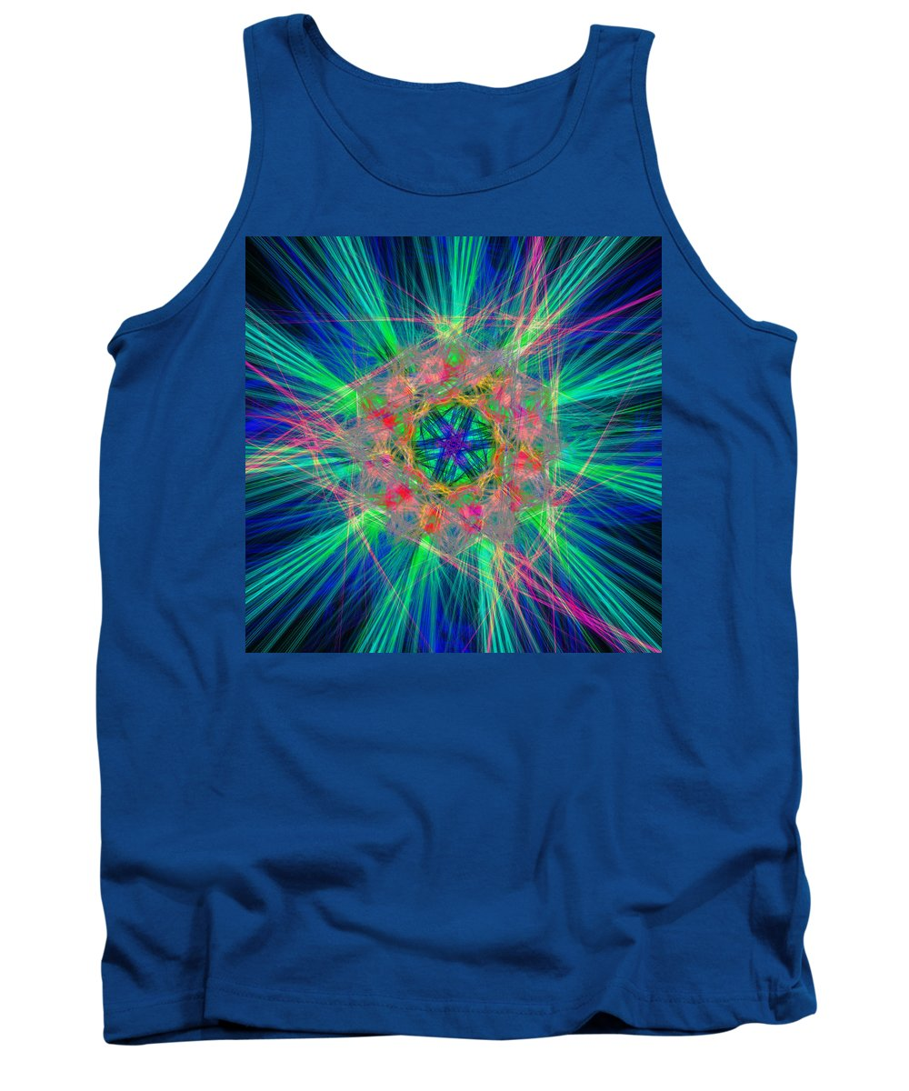 Abstract Tank Top featuring the digital art Disputates by Andrew Kotlinski