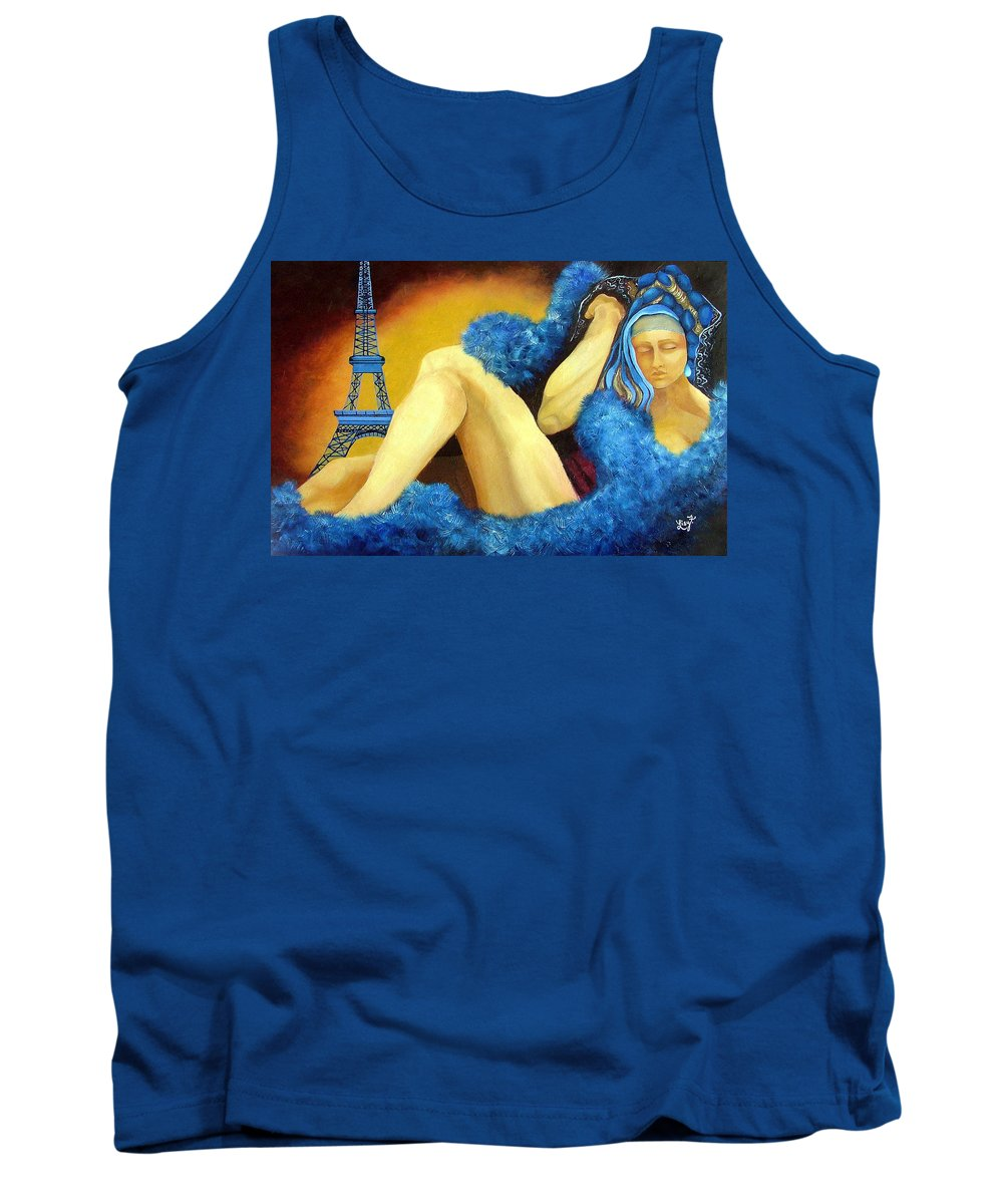 Paris Tank Top featuring the painting Dreaming Of Paris by Elizabeth Lisy Figueroa
