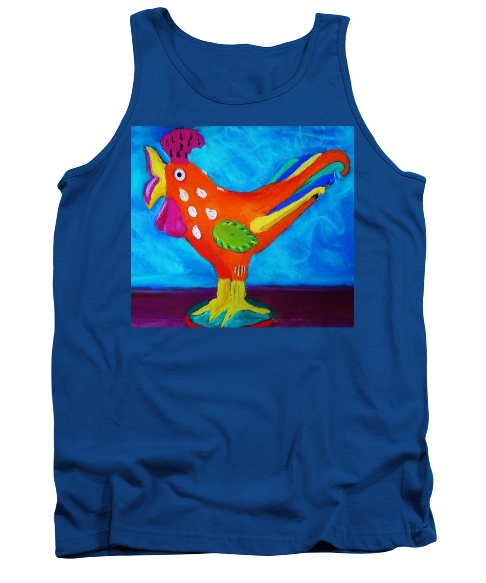 Bird Tank Top featuring the pastel Dusty's Chick by Melinda Etzold