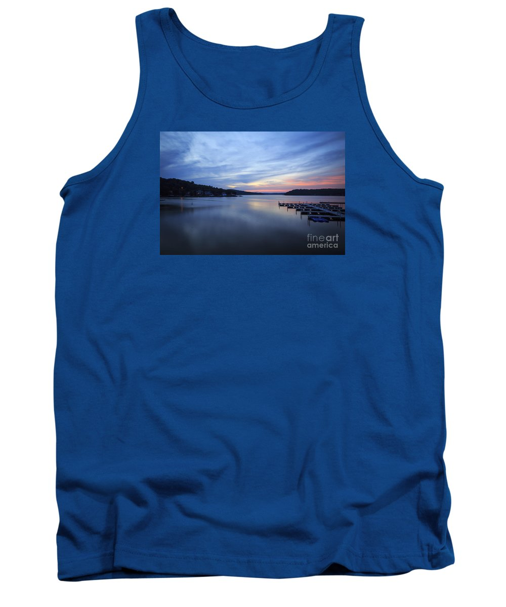Lake Tank Top featuring the photograph Early Morning At Lake Of The Ozarks by Dennis Hedberg