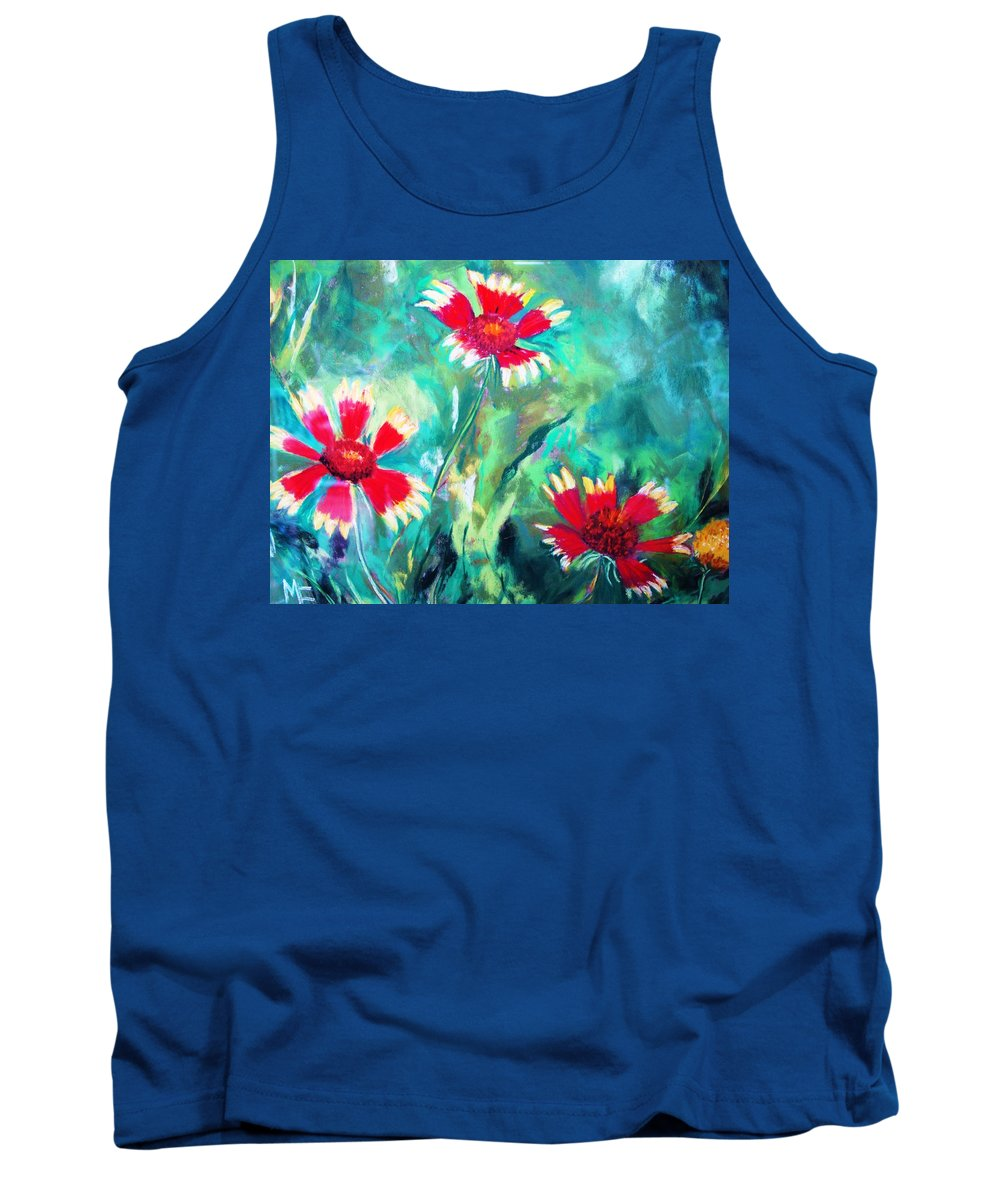 Flowers Tank Top featuring the painting East Texas Wild Flowers by Melinda Etzold