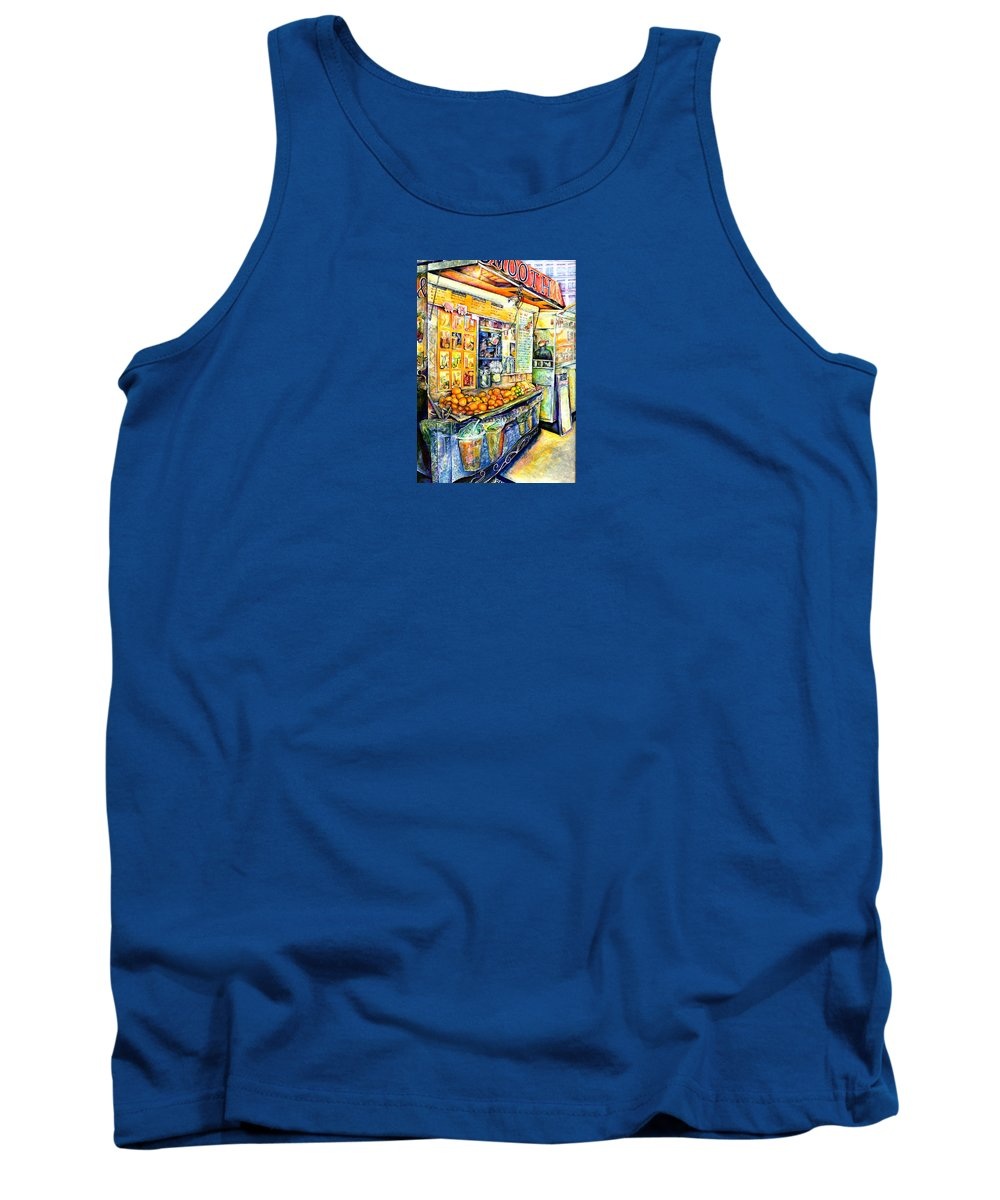 Gaye Elise Beda Tank Top featuring the painting Eat by Gaye Elise Beda