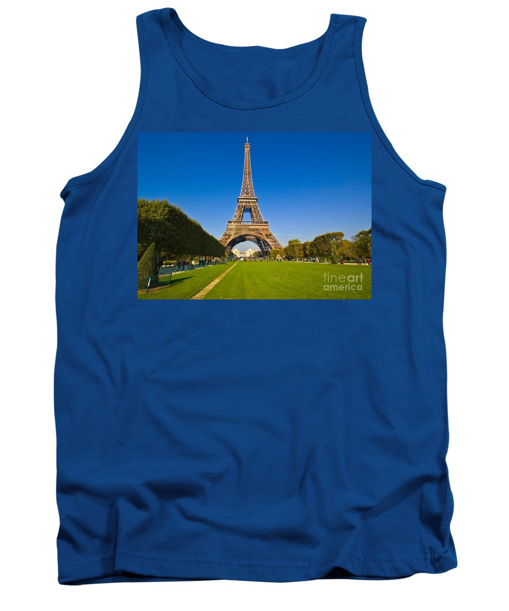 Tank Top featuring the photograph Eiffel Tower by Charuhas Images
