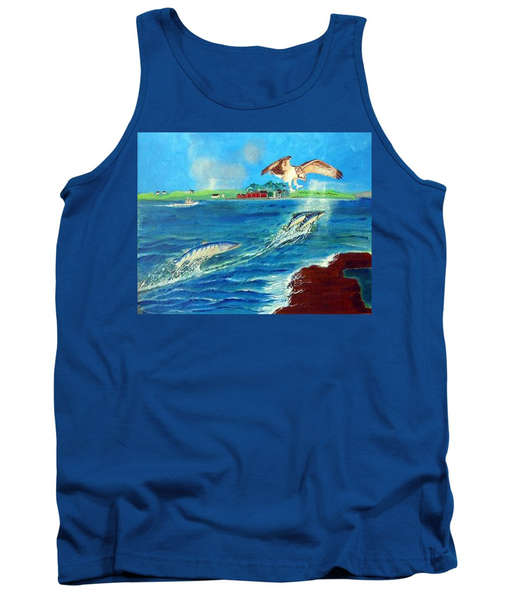 Osprey Tank Top featuring the painting Either Way by Richard Le Page