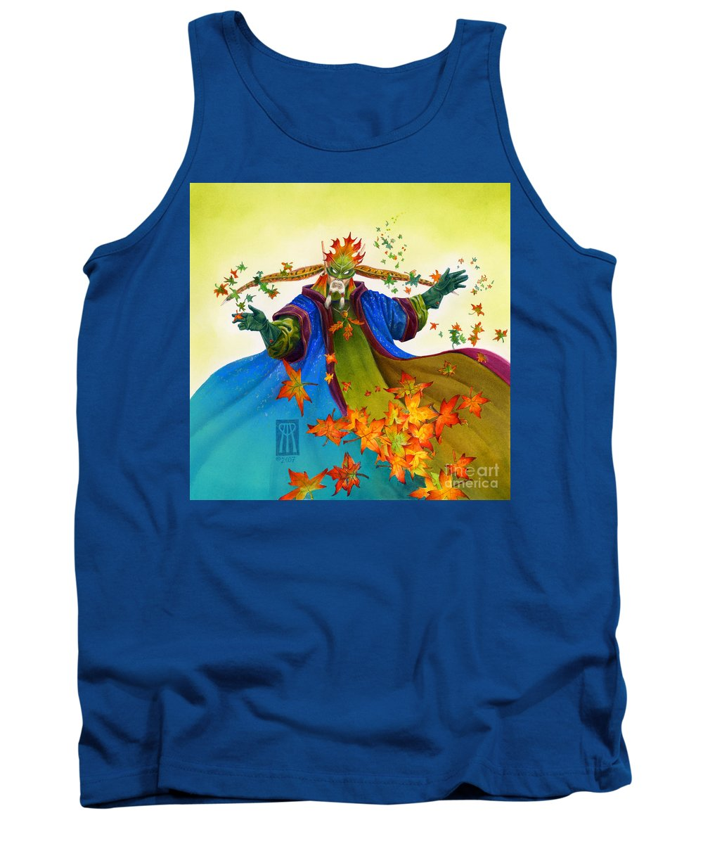 Elf Tank Top featuring the painting Elven Mage by Melissa A Benson